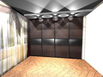 коричневые шкафы-купе на заказ цена воронеж
