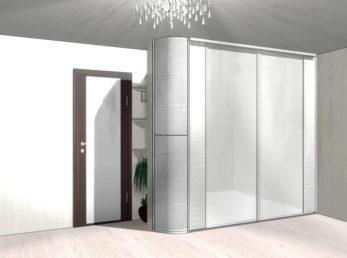 Серый зеркальный шкафы-купе на заказ цена воронеж