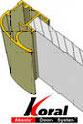 Алюминиевая шкафы купе на заказ система KORAL в рассрочку воронеж