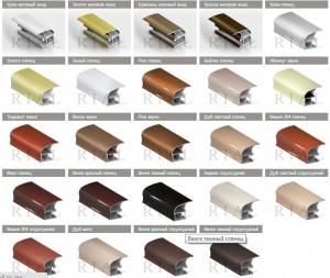 цветовая палитра RIAL шкафы-купе воронеж